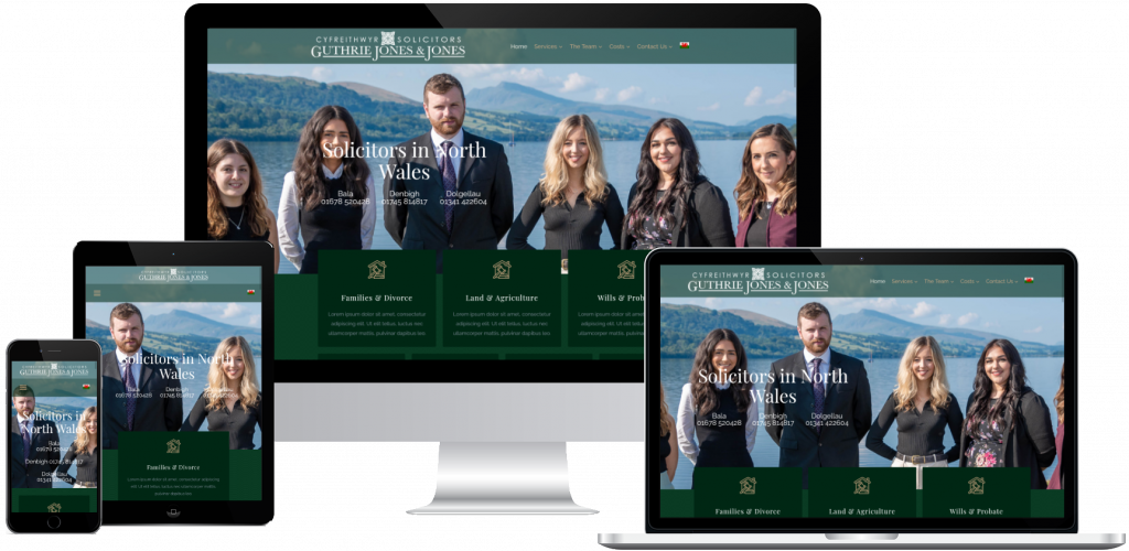 Law firm website - web design north wales